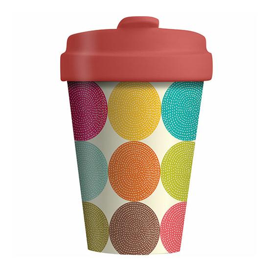 Bamboo Cup - Bright Circles