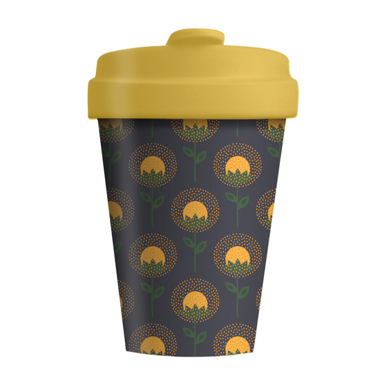Bamboo Cup - Sunflowers