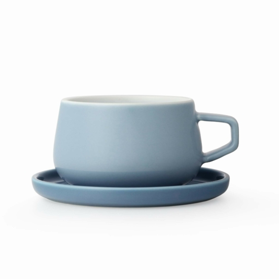 ELLA csésze és alj - égkék